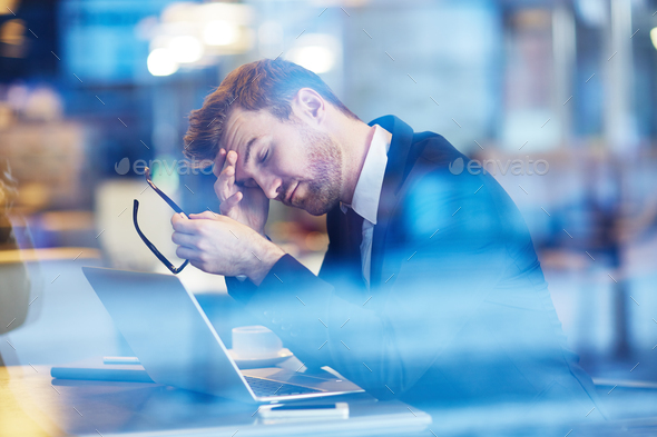Tired manager - Stock Photo - Images