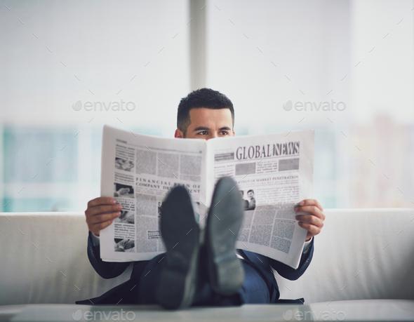 Reading fresh news - Stock Photo - Images