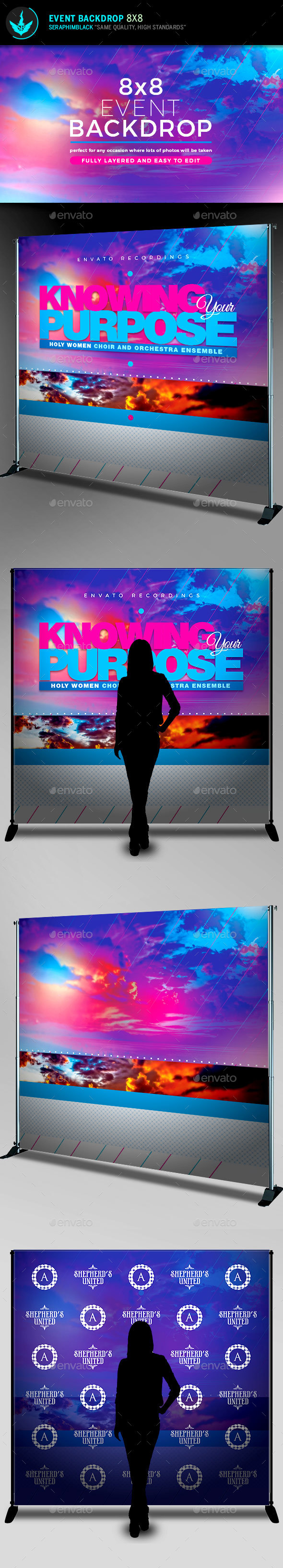 Knowing Your Purpose Event Backdrop Template - Signage Print Templates
