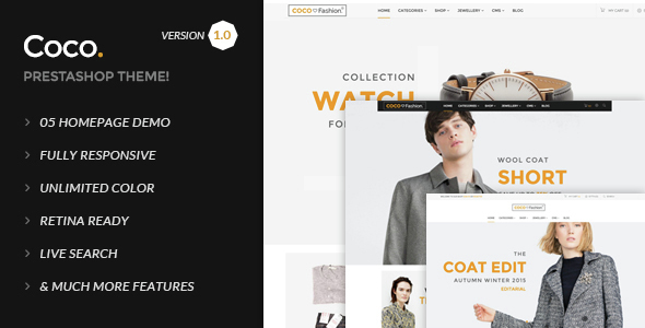 Coco Responsive Prestashop Theme - Fashion PrestaShop