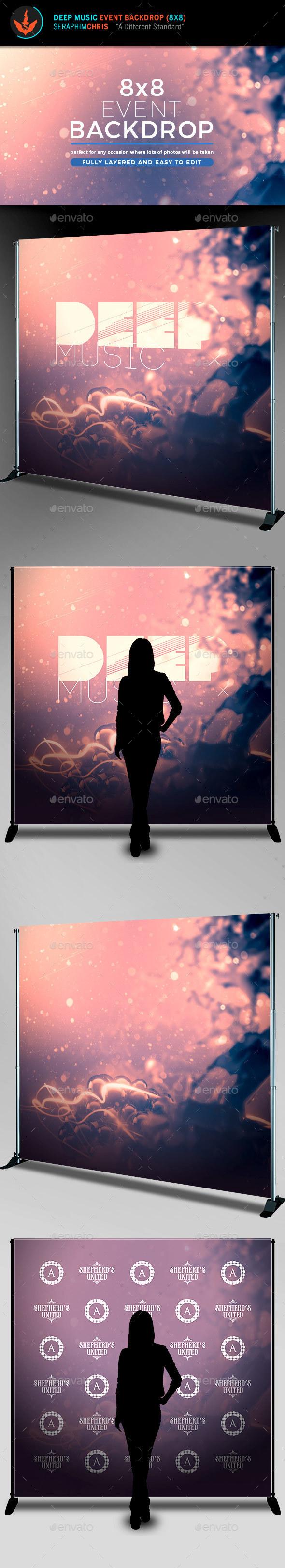Deep Music Event Backdrop Template - Signage Print Templates