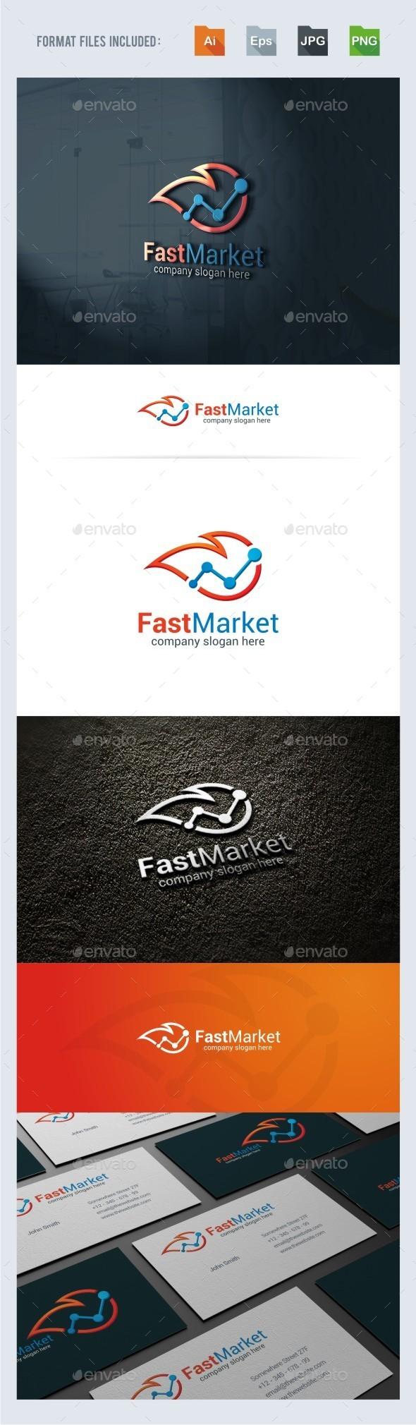 Fast Marketing Logo Template - Symbols Logo Templates