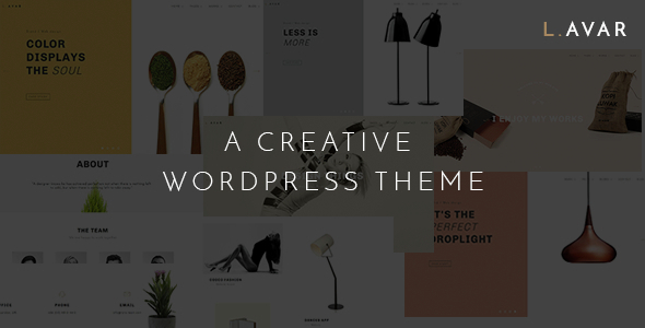 Lavar – Portfolio & Agency WordPress Theme