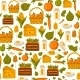 Seamless Farm Products Background - GraphicRiver Item for Sale