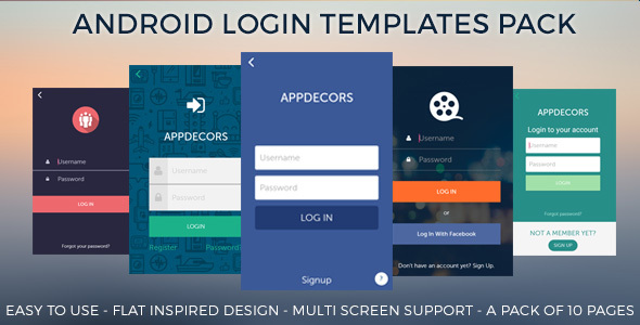 Android login templates pack by appdecors codecanyon android login templates pack codecanyon item for sale pronofoot35fo Images