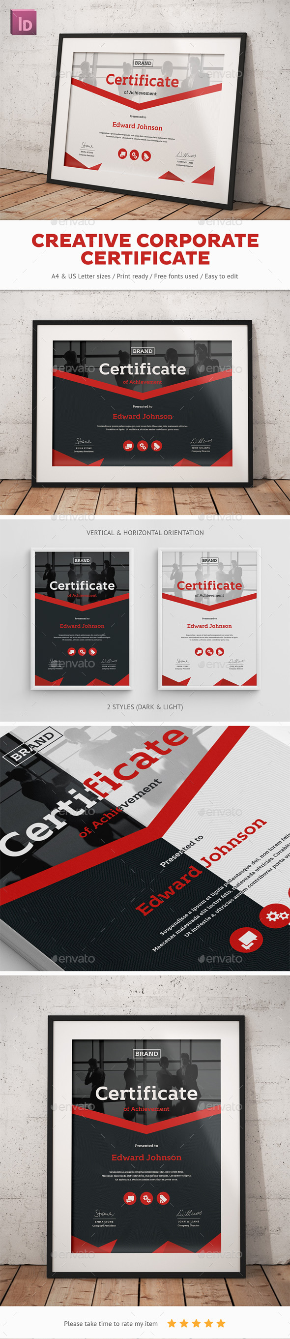 Creative Corporate Certificate - Certificates Stationery