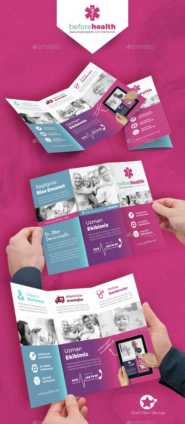 Health Tri-Fold Templates - Brochures Print Templates