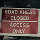 Road Ahead Closed - VideoHive Item for Sale