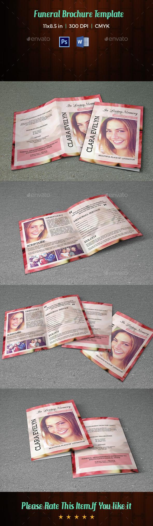 Funeral Program Template-V29 - Informational Brochures