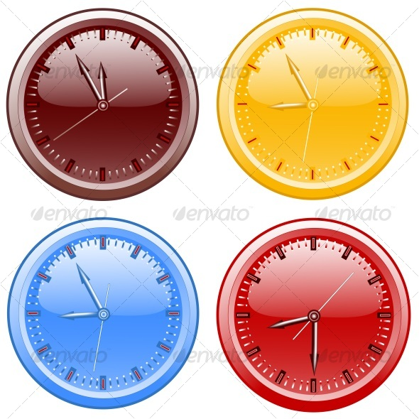 Clocks. vector illustration - Objects Vectors