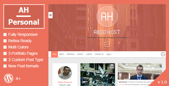 AH Personal – Creative Resume & Blog Theme