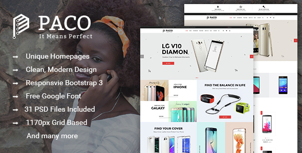 Paco – Multi-Purpose eCommerce PSD Template