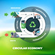 Circular Economy Illustration on Circle Background