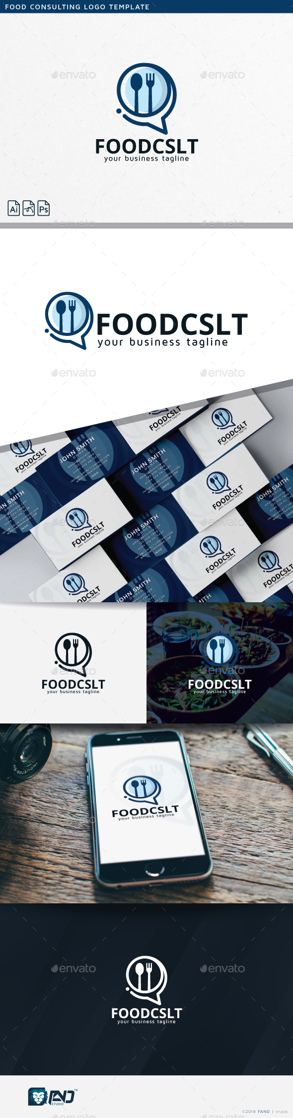 Food Consulting - Food Logo Templates