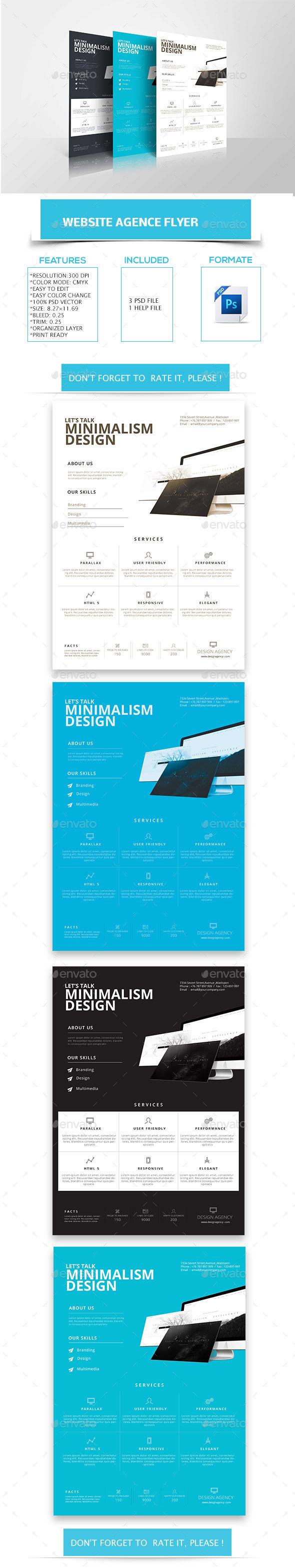 Website Design & Development Agency - Flyers Print Templates