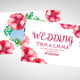3 Flower Wedding Invitation & Cards