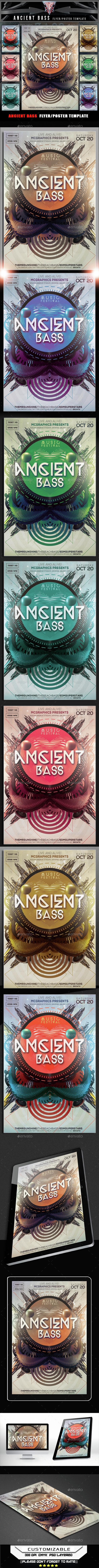 Ancient Bass Flyer Template - Flyers Print Templates