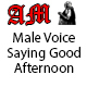 Male Voice Saying Good Afternoon