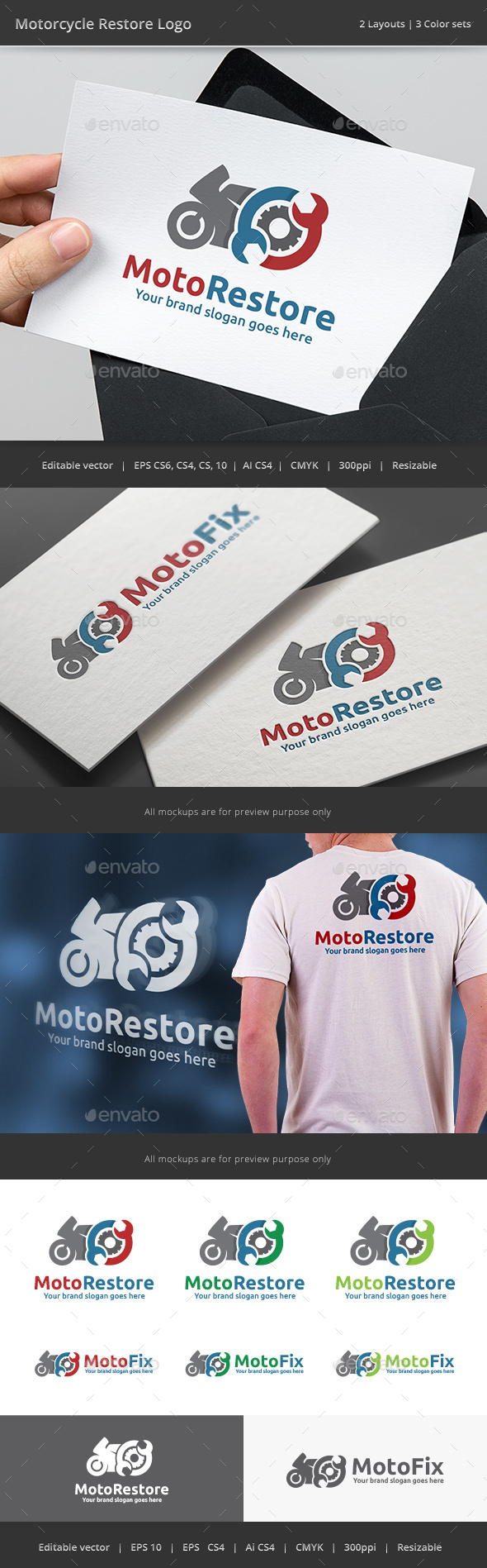 Motorcycle Restore Logo - Vector Abstract