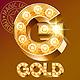 Fantastic Golden Vector Light Up Font - GraphicRiver Item for Sale