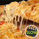 Taking Slice Of Pizza With Chicken And Mushroom - VideoHive Item for Sale