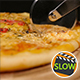 Cutting Pizza With Chicken And Mushroom - VideoHive Item for Sale