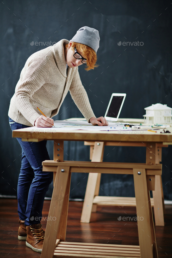 Student at work - Stock Photo - Images