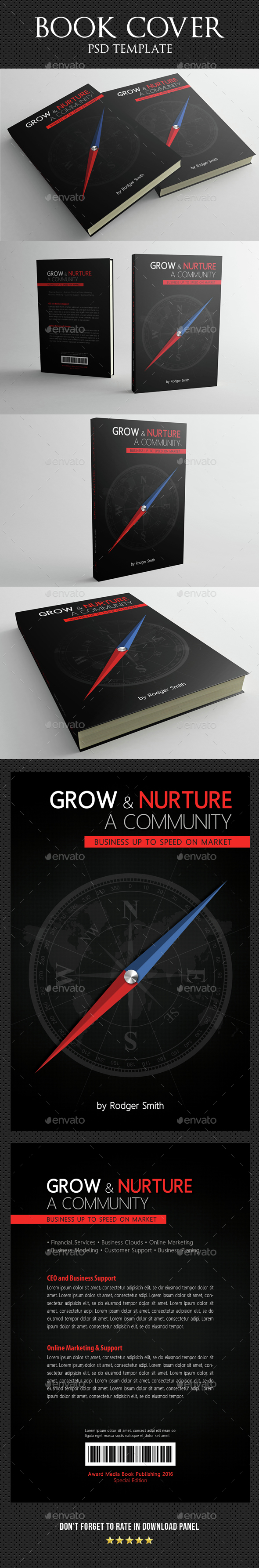 Book Cover Template 08 - Miscellaneous Print Templates
