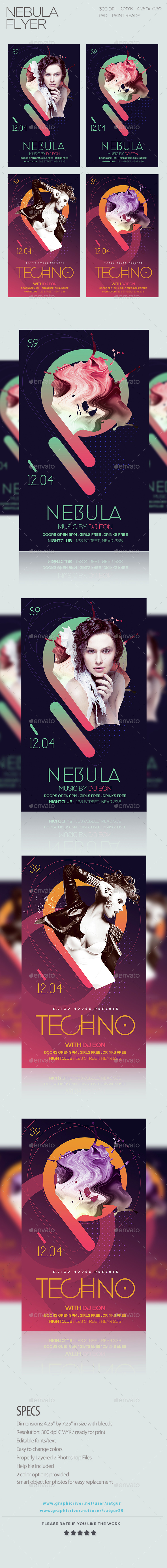 Nebula Flyer - Clubs & Parties Events