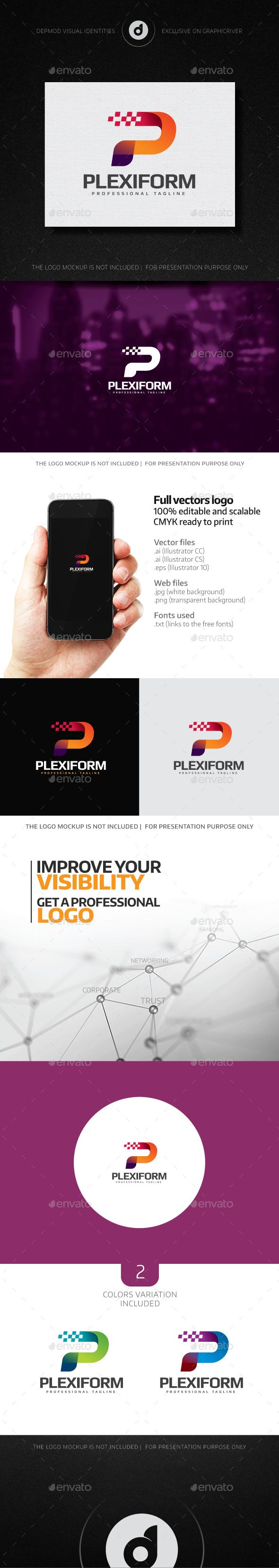 Plexiform Logo - Letters Logo Templates