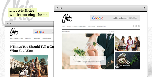 Chic – Lifestyle Blog WordPress Theme