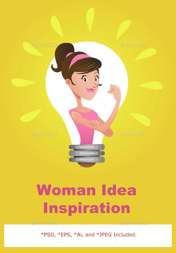 We Can Do It Woman Emancipation Idea - Conceptual Vectors