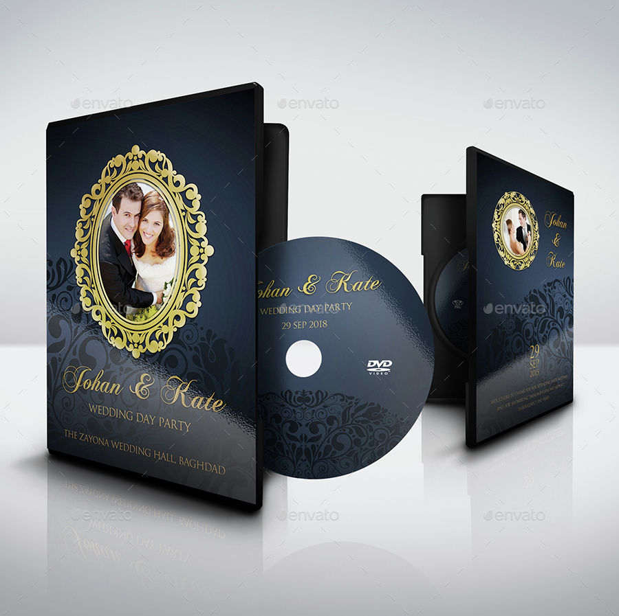 Wedding DVD Cover and DVD Label Template Vol.7 by ...