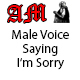 Male Voice Saying Im Sorry