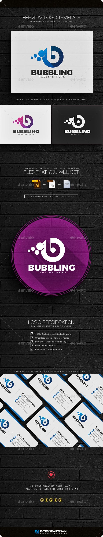 Bubbling - Letter B Logo - Letters Logo Templates