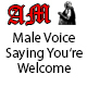 Male Voice Saying You're Welcome