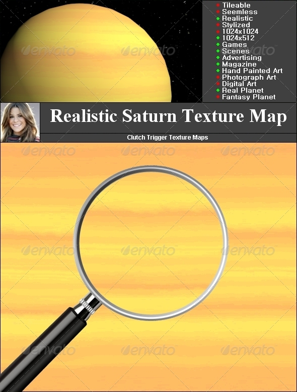 Saturn Texture Map - 3DOcean Item for Sale