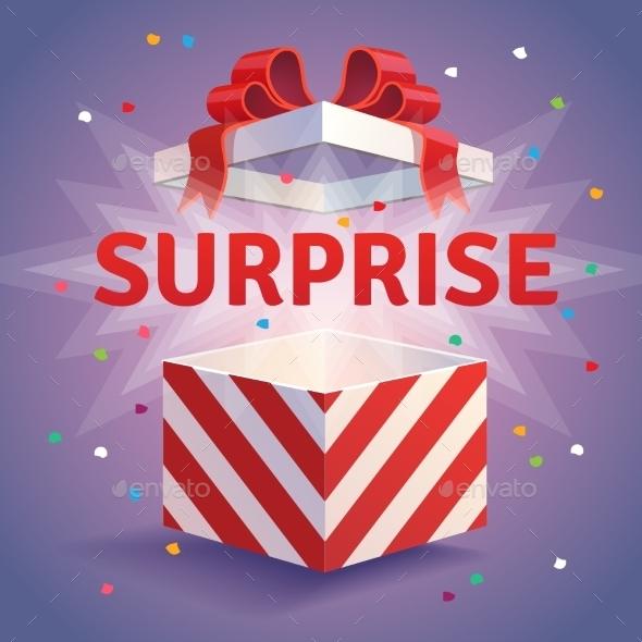 Opened Surprise Gift Box - Christmas Seasons/Holidays