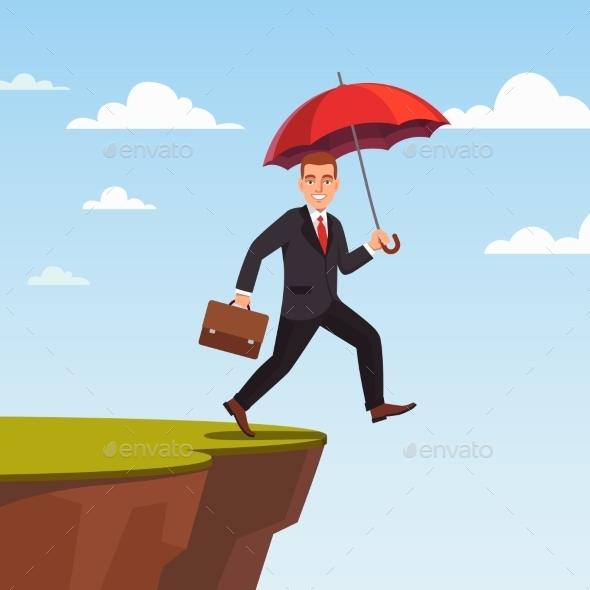 Businessman Leap of Faith Concept - Concepts Business