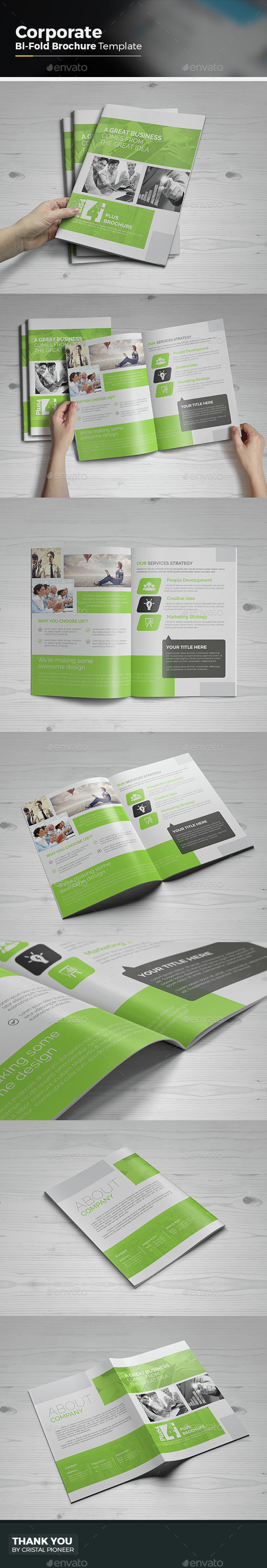 Corporate Bi Fold Brochure Template - Corporate Brochures
