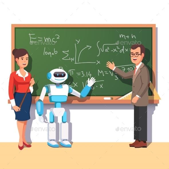 Modern Robot Helping Teachers - Miscellaneous Characters