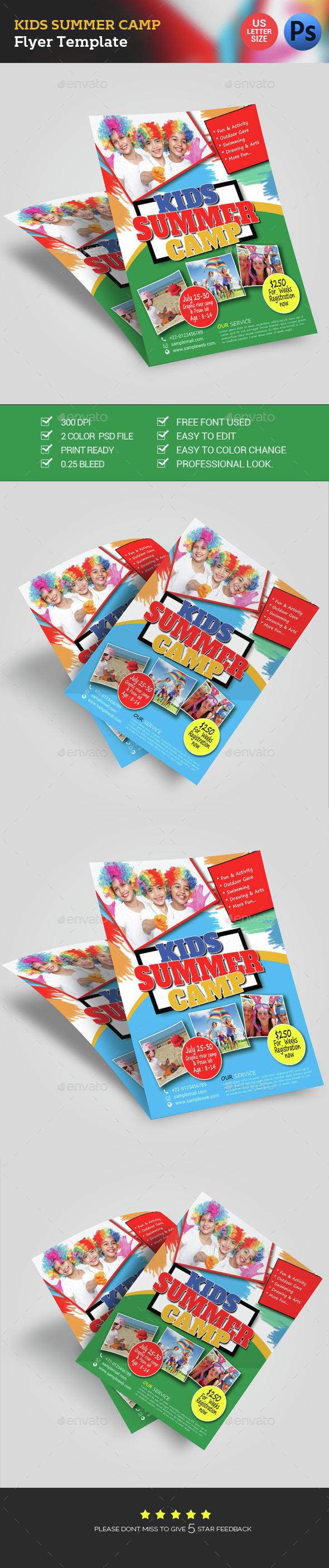 Kids Summer Camp Fest Flyer - Flyers Print Templates