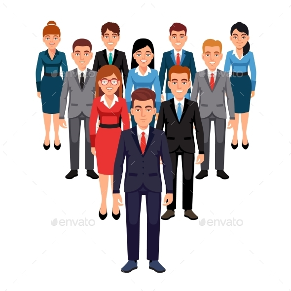 Executives Team Leadership Concept - People Characters