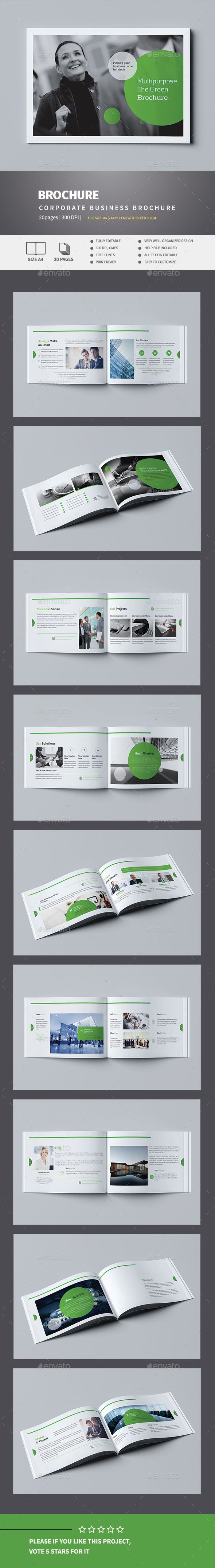 Green Business Brochure - Corporate Brochures