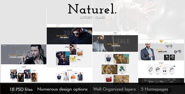 Naturel Psd Template - PSD Templates