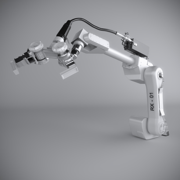 Robotic Arm (Rigged) - 3DOcean Item for Sale