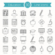 30 Education Line Icons - GraphicRiver Item for Sale