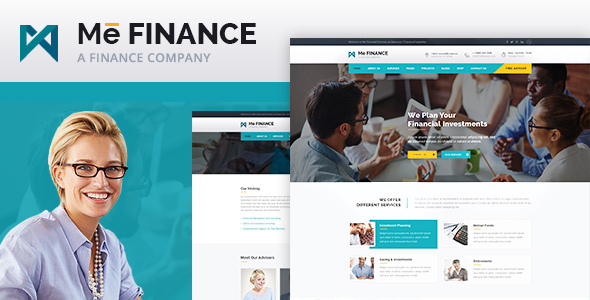 Me Finance – Business and Finance PSD Template