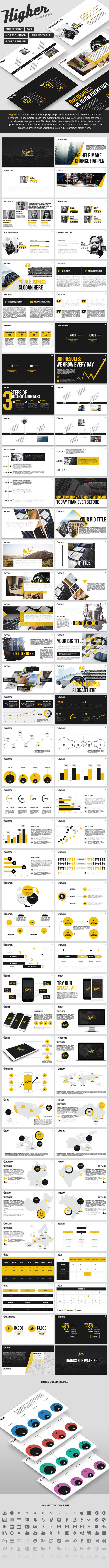 Higher - Creative PowerPoint Template  - PowerPoint Templates Presentation Templates