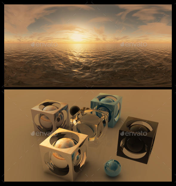 Golden Hour 5 - HDRI - 3DOcean Item for Sale